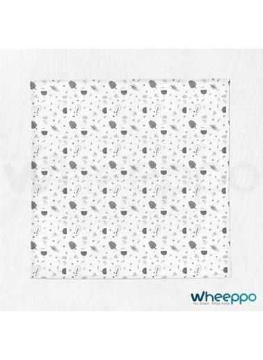 Wheeppo Siyah Beyaz Orman  Müslin Örtü  70*80 Cm Renkli